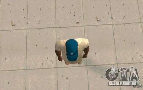 Tampa azul newyorkyankiys para GTA San Andreas terceira tela