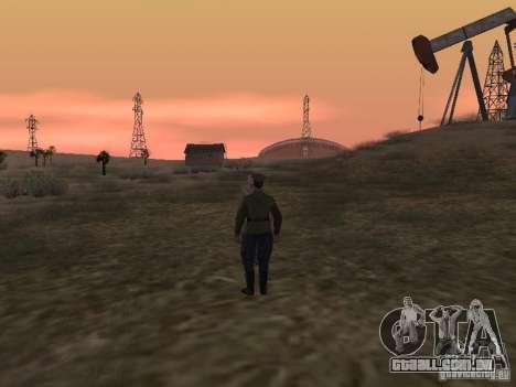 Oficial soviético BOB para GTA San Andreas quinto tela