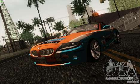 BMW Z4 para GTA San Andreas vista inferior