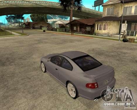 2005 Pontiac GTO para GTA San Andreas esquerda vista