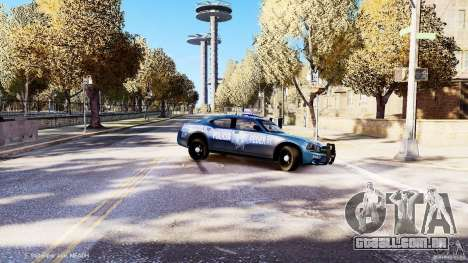 POLICIA FEDERAL MEXICO DODGE CHARGER ELS para GTA 4 vista superior