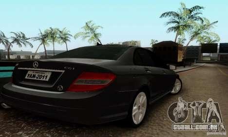 Mercedes-Benz C180 para GTA San Andreas vista direita