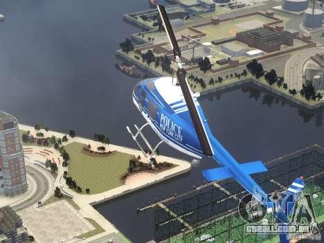 Bell 206 B - NYPD para GTA 4 vista superior