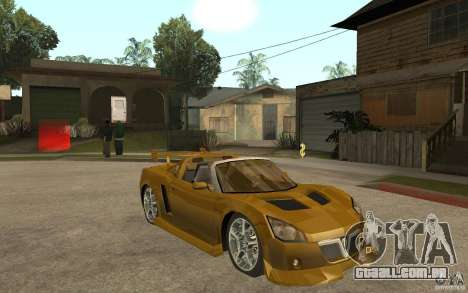 Opel Speedster para GTA San Andreas vista traseira