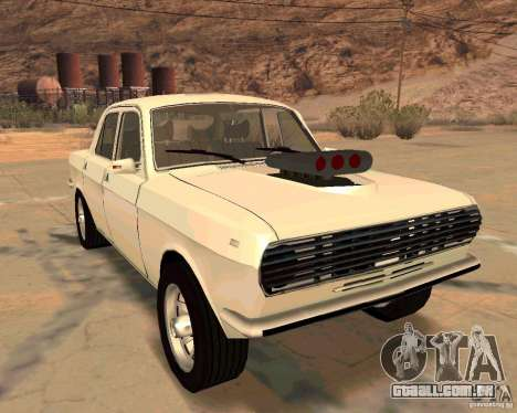 GAZ Volga 2410 Hot Road para GTA San Andreas vista superior