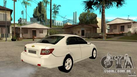 Chevrolet Epica 2008 para GTA San Andreas vista direita