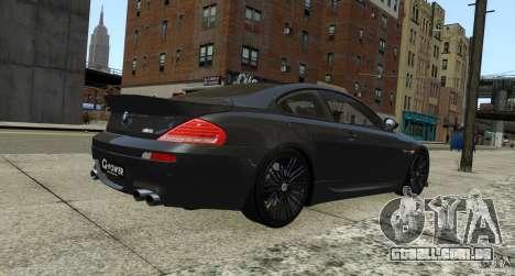 BMW M6 Hurricane RR para GTA 4 vista direita