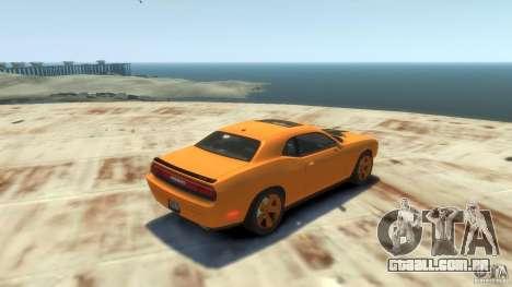 Dodge Challenger SRT8 para GTA 4 vista de volta