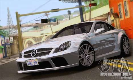 Mercedes-Benz SL65 AMG Black Series para GTA San Andreas vista superior