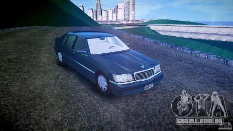 Mercedes Benz SL600 W140 1998 higher Performance para GTA 4 vista direita