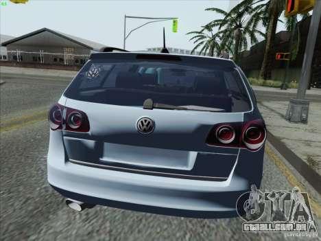 Volkswagen Passat B6 Variant Stance 2007 para GTA San Andreas traseira esquerda vista