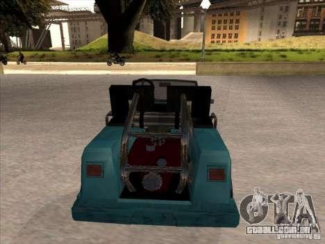 Small Cabrio para GTA San Andreas vista direita