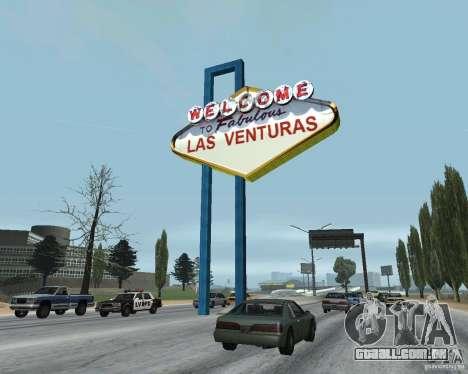 Real New Vegas v1 para GTA San Andreas por diante tela