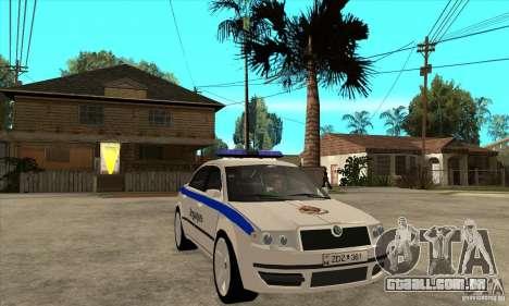 Skoda SuperB GEO Police para GTA San Andreas vista traseira