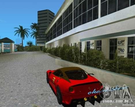 Ferrari 599 GTO para GTA Vice City vista direita