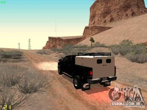 Dodge Ram 3500 Unmarked para GTA San Andreas traseira esquerda vista