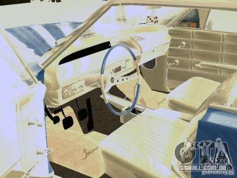 Chevrolet Impala 4 Door Hardtop 1963 para GTA San Andreas vista traseira