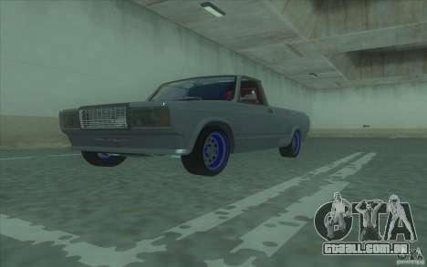 Lada 2107 Street Racing para GTA San Andreas vista direita