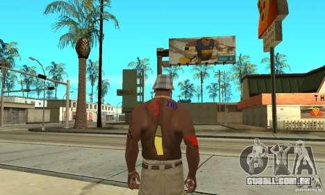 Tatuagem legal no CJ-eu no corpo para GTA San Andreas por diante tela