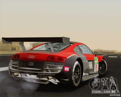 Audi R8 LMS v2.0.1 para GTA San Andreas vista direita
