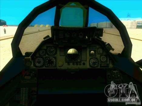F-14 Tomcat Schnee para vista lateral GTA San Andreas
