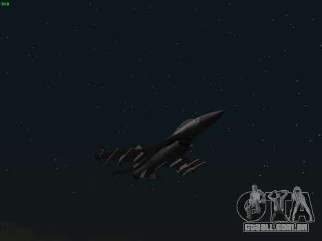 F-16C Warwolf para GTA San Andreas vista traseira