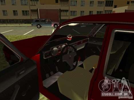 Volga GAZ 24-10 para GTA San Andreas vista interior