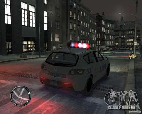 Mazda 3 Police para GTA 4 esquerda vista