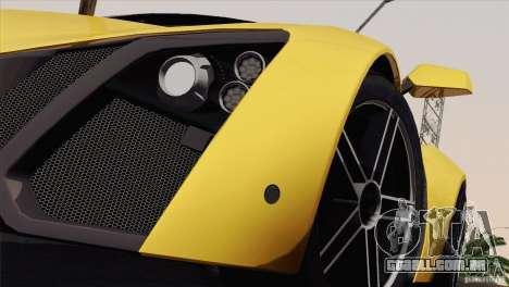 Marussia B2 2010 para vista lateral GTA San Andreas