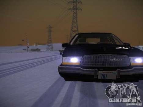 Buick Roadmaster 1996 para vista lateral GTA San Andreas