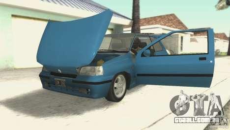Renault Clio RL 1996 para GTA San Andreas vista traseira