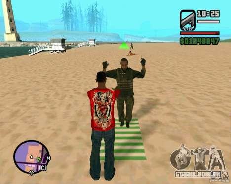 Ação de COD Modern Warfare 2 para GTA San Andreas segunda tela