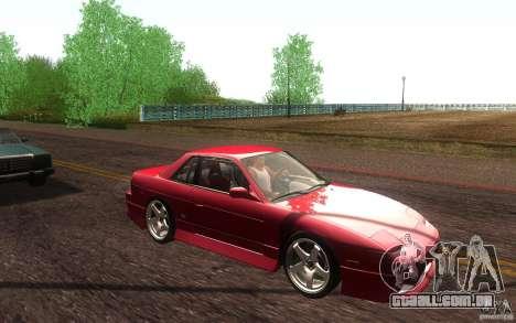 Nissan Silvia S13 Onevia para vista lateral GTA San Andreas