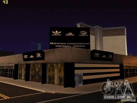 Substituição completa da loja Binco Adidas para GTA San Andreas décimo tela
