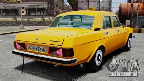 Táxi de gaz-3102 para GTA 4 traseira esquerda vista