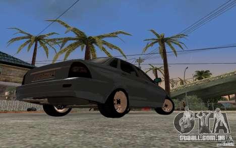 LADA priora luz tuning para GTA San Andreas vista traseira