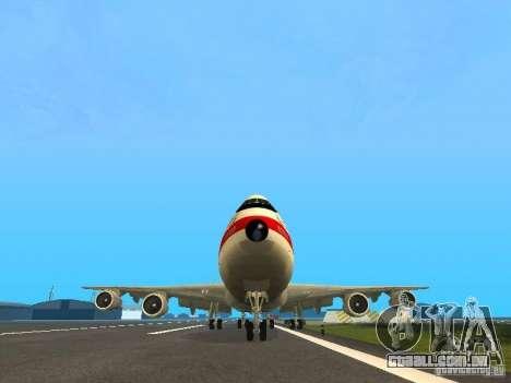 Boeing 747-100 para GTA San Andreas vista traseira