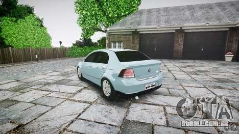Volkswagen Voyage Comfortline para GTA 4 traseira esquerda vista