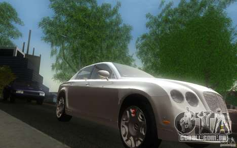 Bentley Continental Flying Spur para GTA San Andreas vista traseira