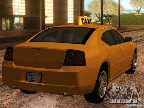 Dodge Charger STR8 Taxi para GTA San Andreas traseira esquerda vista
