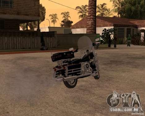 Harley Davidson Police 1997 para GTA San Andreas traseira esquerda vista