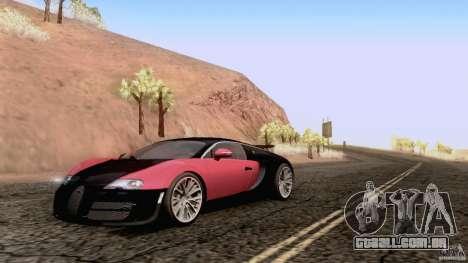 Bugatti ExtremeVeyron para GTA San Andreas traseira esquerda vista