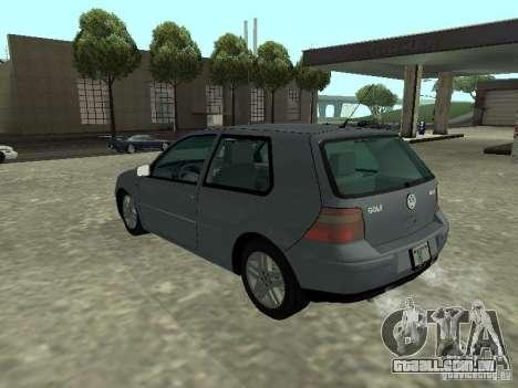 Volkswagen Golf IV para GTA San Andreas esquerda vista