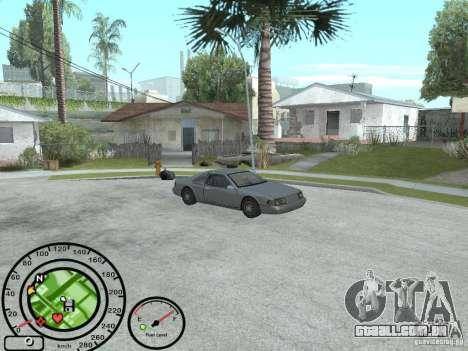 Velocímetro com indicador de combustível para GTA San Andreas