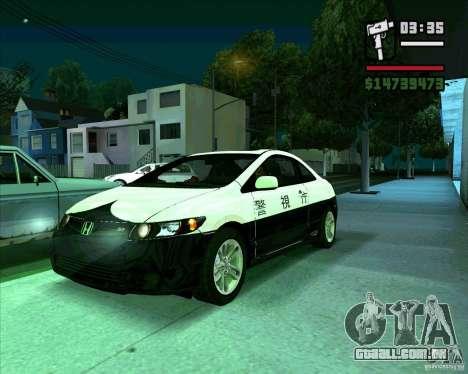 Honda Civic 2006 Coupe 1.1 para GTA San Andreas
