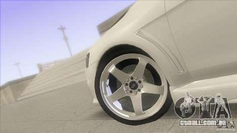 Mitsubishi Lancer Evo IX DIM para GTA San Andreas vista interior