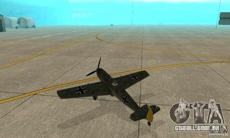 Bf-109 para GTA San Andreas vista direita