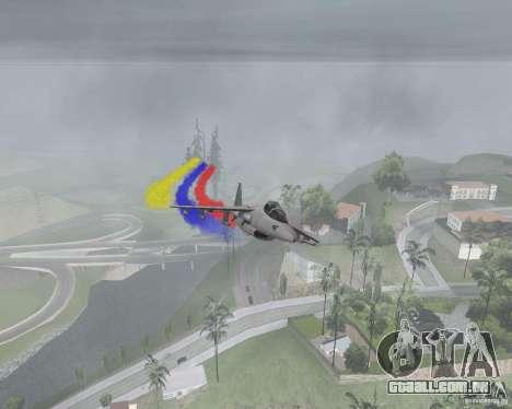 Multi colorido tiras para aeronaves para GTA San Andreas segunda tela