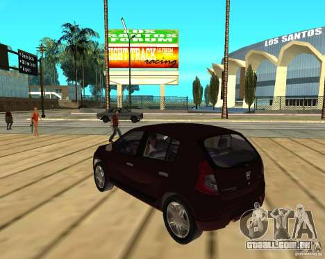 Dacia Sandero 1.6 MPI para GTA San Andreas esquerda vista