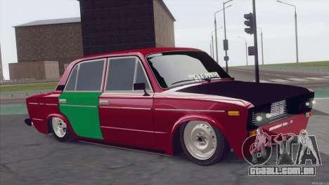 VAZ 2106 Hobo para GTA San Andreas traseira esquerda vista